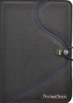 Обложка для электронной книги Vivacase S-style (черно-синий, кожа) - общий вид