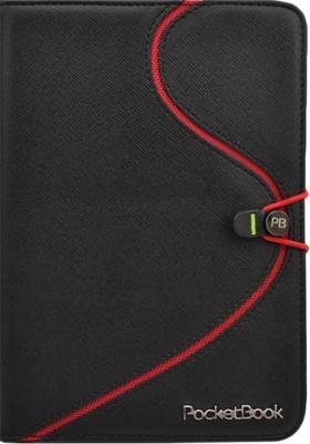 Обложка для электронной книги Vivacase S-style (черно-красный, кожа) - общий вид