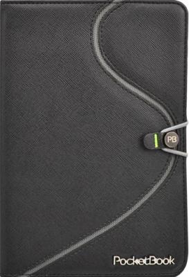 Обложка для электронной книги Vivacase S-style (черно-серый, кожа) - общий вид