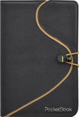Обложка для электронной книги Vivacase S-style (черно-бежевый, кожа) - фронтальный вид