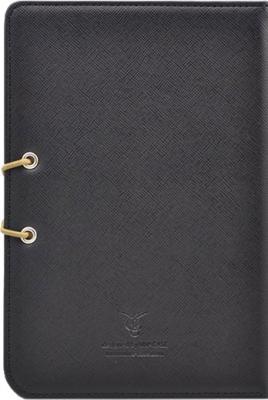 Обложка для электронной книги Vivacase S-style (черно-бежевый, кожа) - вид сзади