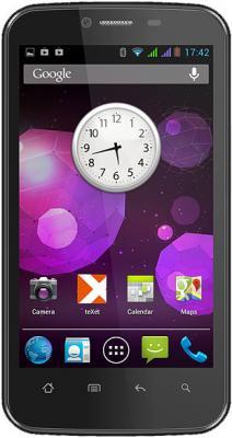 Смартфон TeXet TM-4377 Black - вид спереди