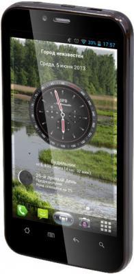 Смартфон TeXet TM-4377 Black - вполоборота
