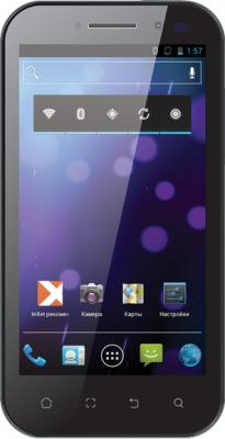Смартфон TeXet TM-4577 Black - вид спереди