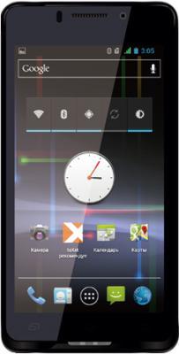 Смартфон TeXet TM-4677 Black - вид спереди