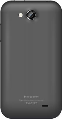 Смартфон TeXet TM-5277 Black - вид сзади