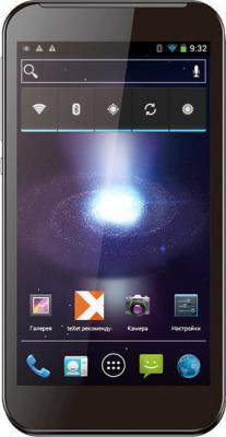 Смартфон TeXet TM-5377 Black - вид спереди