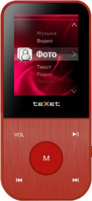 MP3-плеер TeXet T-150 (8GB, красный) - вид спереди