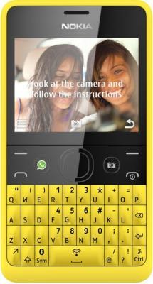 Мобильный телефон Nokia Asha 210 Dual (Yellow) - вид спереди