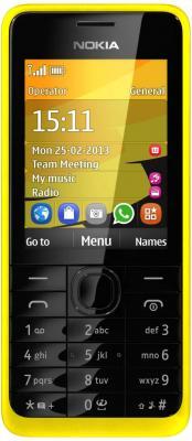 Мобильный телефон Nokia 301 Dual (Yellow) - общий вид