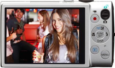 Компактный фотоаппарат Canon DIGITAL IXUS 132 Silver - вид сзади