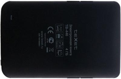 Электронная книга TeXet TB-446 (Gray) - вид сзади