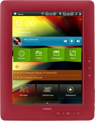 Электронная книга TeXet TB-880HD (Red) - общий вид