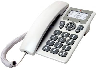 Проводной телефон TeXet TX-205 Light Gray - общий вид