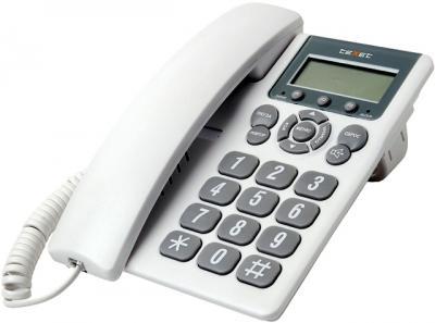 Проводной телефон TeXet TX-205M Light Gray - общий вид