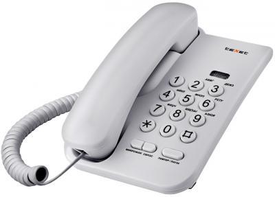Проводной телефон TeXet TX-212 Light Gray - общий вид