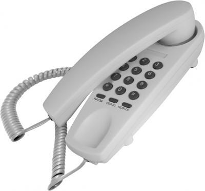 Проводной телефон TeXet TX-225 Light Gray - общий вид