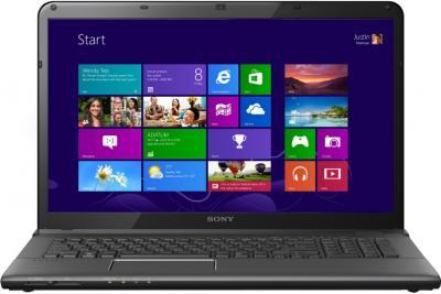 Ноутбук Sony Vaio SVE1713L1RB - фронтальный вид