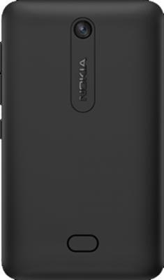 Мобильный телефон Nokia Asha 501 Dual (Black) - вид сзади