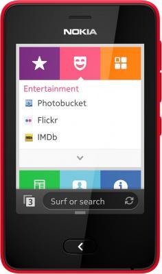 Мобильный телефон Nokia Asha 501 Dual (Bright Red) - вид спереди