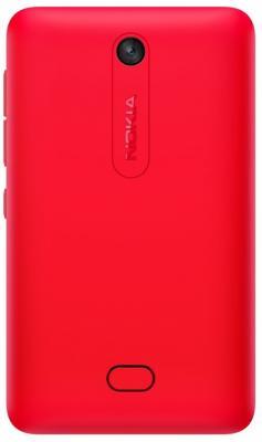 Мобильный телефон Nokia Asha 501 Dual (Bright Red) - вид сзади