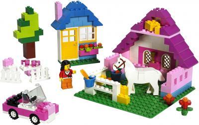 Конструктор Lego Bricks & More 5560 Большая коробка с розовыми кубиками - общий вид