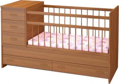 Детская кровать-трансформер Бэби Бум Маруся (Орех) - общий вид