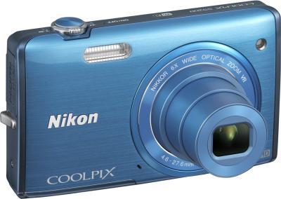 Компактный фотоаппарат Nikon S5200 Blue - общий вид