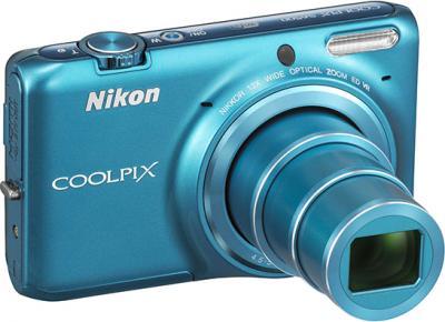 Компактный фотоаппарат Nikon S6500 Blue - общий вид