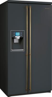 Холодильник с морозильником Smeg SBS8003A1 - общий вид