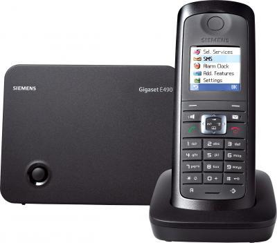 Беспроводной телефон Gigaset E490 (Black) - общий вид