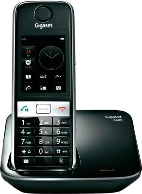 Беспроводной телефон Gigaset S820 Black - общий вид
