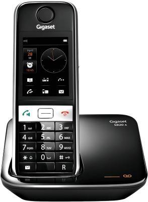 Беспроводной телефон Gigaset S820A Black - общий вид