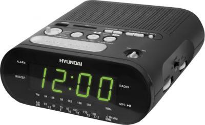 Радиочасы Hyundai H-1546  (Black-Green) - общий вид
