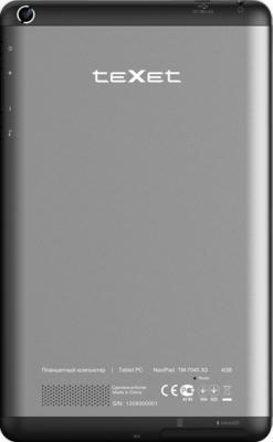 Планшет TeXet NaviPad TM-7045 3G (Black) - вид сзади