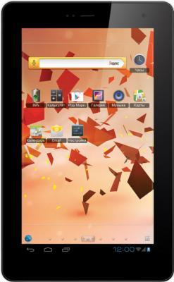 Планшет TeXet NaviPad TM-7045 3G (Black) - фронтальный вид