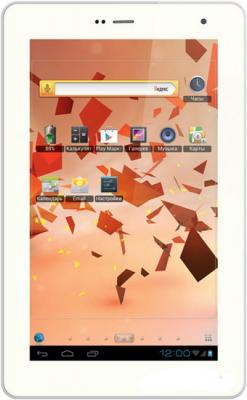 Планшет TeXet NaviPad TM-7045 3G (White) - фронтальный вид