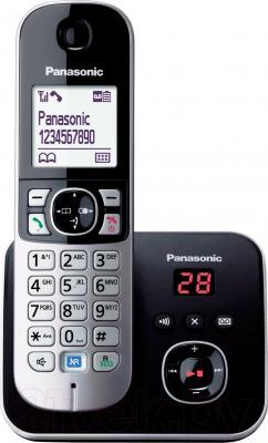 Беспроводной телефон Panasonic KX-TG6821 (черный) - общий вид