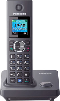 Беспроводной телефон Panasonic KX-TG7851  (Gray, KX-TG7851RUH) - общий вид
