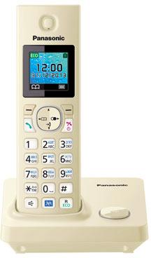 Беспроводной телефон Panasonic KX-TG7851 (Beige, KX-TG7851RUJ) - общий вид