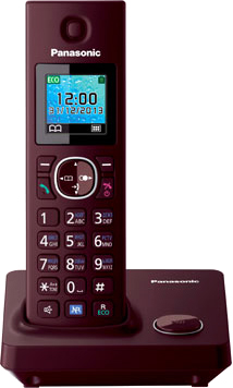 Беспроводной телефон Panasonic KX-TG7851  (Red, KX-TG7851RUR) - общий вид