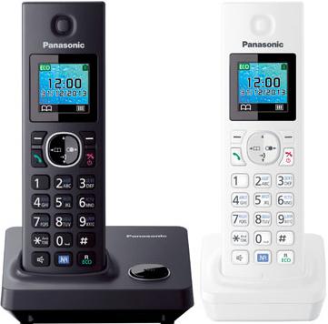 Беспроводной телефон Panasonic KX-TG7852  (White-Black, KX-TG7852RU1) - общий вид