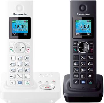 Беспроводной телефон Panasonic KX-TG7862  (White-Black, KX-TG7862RU2) - общий вид