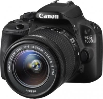 Зеркальный фотоаппарат Canon EOS 100D Kit 18-55 IS STM (черный) - общий вид