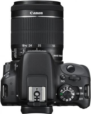 Зеркальный фотоаппарат Canon EOS 100D Kit 18-55 IS STM (черный) - вид сверху