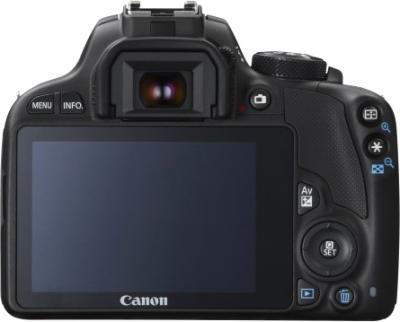 Зеркальный фотоаппарат Canon EOS 100D Kit 18-55 IS STM (черный) - вид сзади