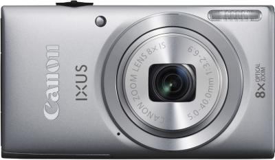 Компактный фотоаппарат Canon DIGITAL IXUS 135 (серебристый) - вид спереди