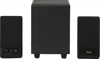 Мультимедиа акустика Sven MS-100 (черный) - вид спереди