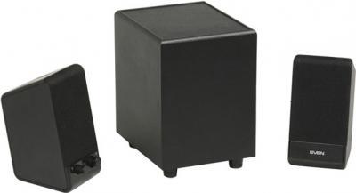 Мультимедиа акустика Sven MS-100 (черный) - вид сбоку