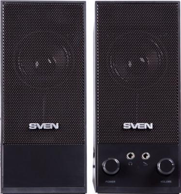 Мультимедиа акустика Sven SPS-604 (черный) - вид спереди